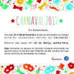 aviso carnaval