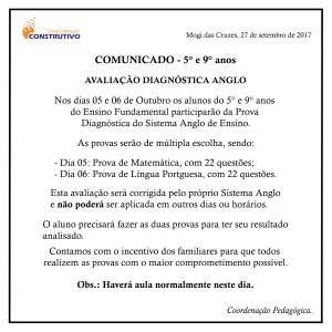AVISO - AVALIAÇÃO site