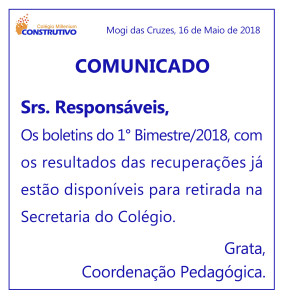 COMUNICADO SITE BOLETIM