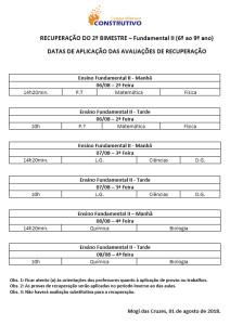 PROVAS DE REC - FUND II